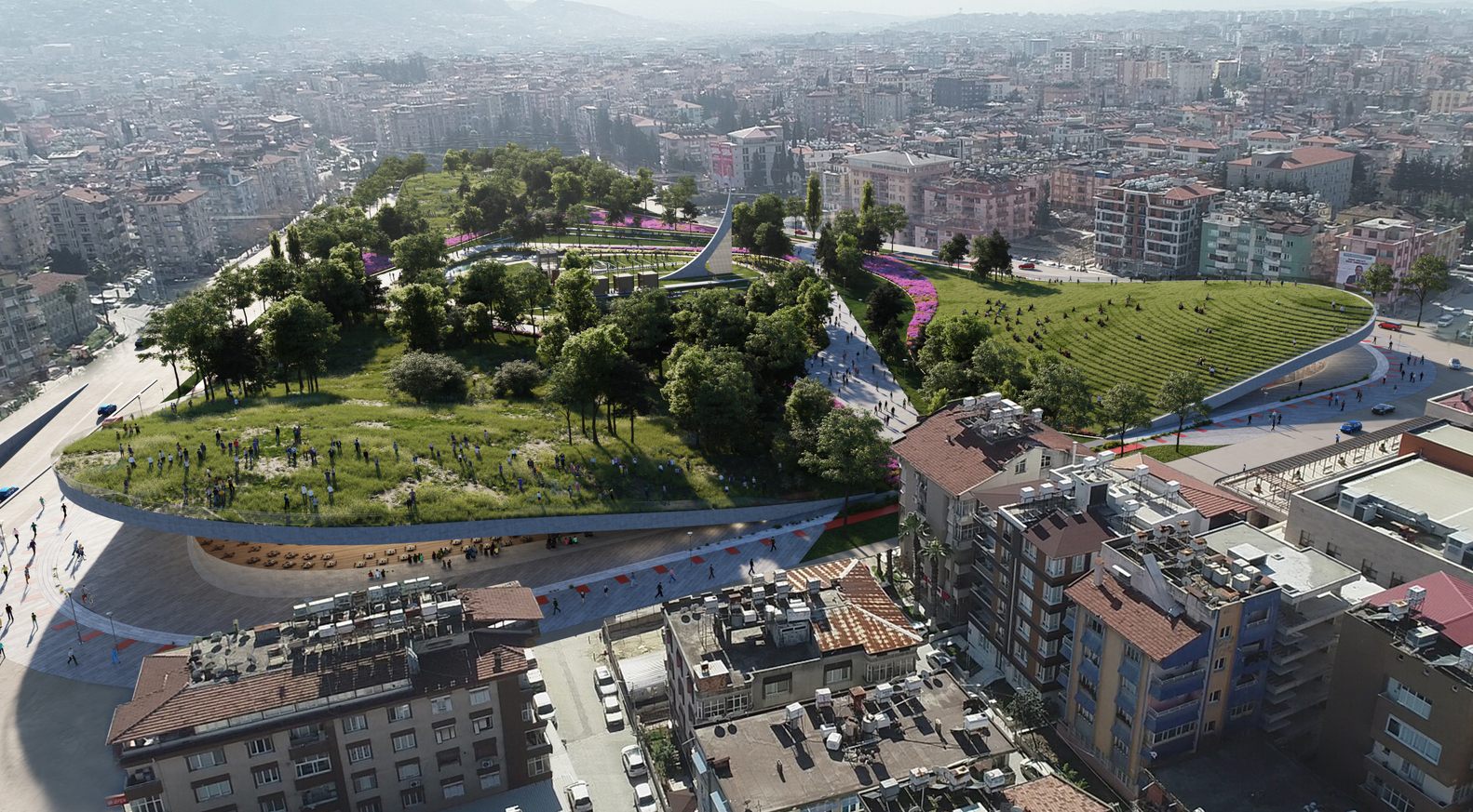 ONZ Repurpose Abandoned Stadium into Urban Park with Cultural Hub