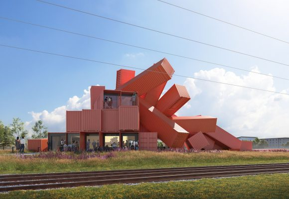 UK Artist Designs Sculptural Building From Shipping Containers